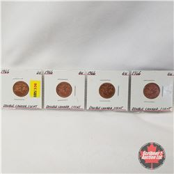 Canada One Cent 1966 - Strip of 4: Double Canada One Cent