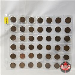 Canada One Cent (42 Coins): 1920 (6); 1932 (3); 1933 (4); 1934 (2); 1935 (4); 1936 (6); 1937 (1); 19