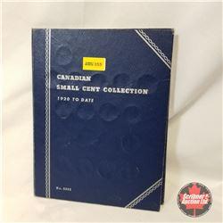 Canada 1¢ Collection - Whitman Folder 49 Coins :1920, 1921, 1927, 1928, 1929, 1932 (2), 1933, 1934 (