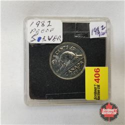 Canada Five Cent 1982 Proof