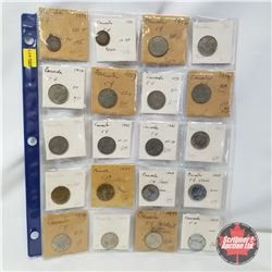 Canada Five Cent - Sheet of 20: 1919; 1920; 1922; 1923; 1924; 1927; 1928; 1929; 1932; 1935; 1936; 19