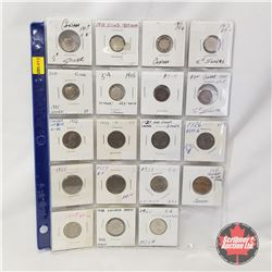 Canada Five Cent - Sheet of 19: 1907; 1910; 1911; 1912; 1914; 1915; 1919; 1920; 1922; 1923; 1924; 19