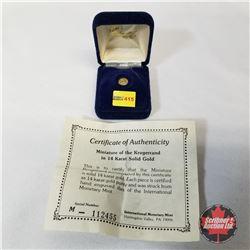 International Monetary Mint 1980 Mini Krugerrand 14K Gold COA#112455