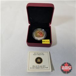 "RCM 2012 Fifty Cent Coin ""Santa's Magical Visit""  COA#20253/25000"