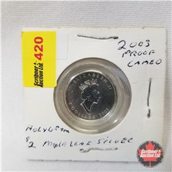 2003 Proof Cameo $2 Hologram (1/10oz Fine Silver Coin)