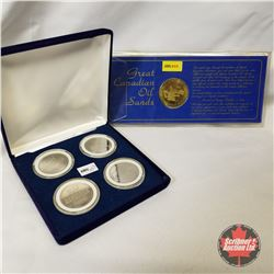 Collector Medallions : Great Canadian Oil Sands 1975 & 2005 WEM Grand Prix Finning Speedway (Set of