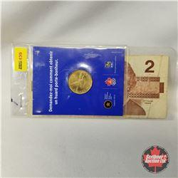 Canada 2006 Loonie & 1986 Canada $2 Bill (Thiessen/Crow #EGE9325967)