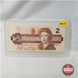 "Canada 1986 $2 Bill (Bonin/Thiessen #BRX3510008) ""Replacement"""