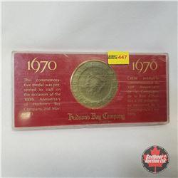 Hudson's Bay Company 1670 - 1970 Commemorative Medal 300th Anniversary