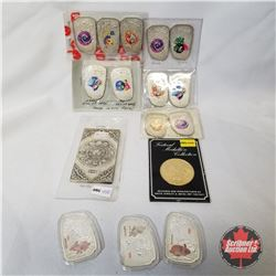Chinese Zodiac ELECTROPLATED COINS (11); YEAR OF THE RABBIT SILVER ELECTROPLATED Coins (3); Festival