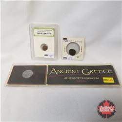 Ancient Coins (3):  Tetricus I 270-273 Ancient Coin & Constantine The Great Era Roman Empire c 330AD
