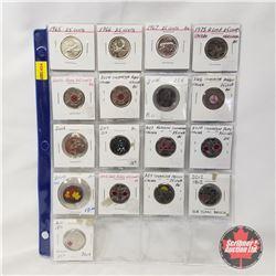 Canada Twenty Five Cent - Sheet of 17: 1965; 1966; 1967; 1973; 2004; 2004; 2006; 2006; 2006; 2007; 2