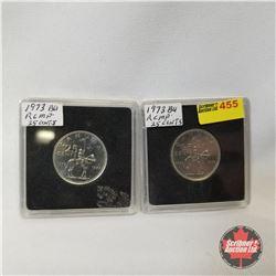 Canada Twenty Five Cent (2): 1973 RCMP