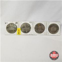 State Medallions - Strip of 4: Wisconsin; Iowa; Maine; Missouri