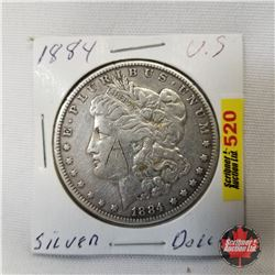 US Morgan Dollar 1884