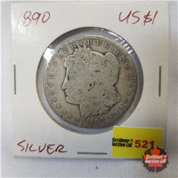 US Morgan Dollar 1890