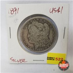 US Morgan Dollar 1891