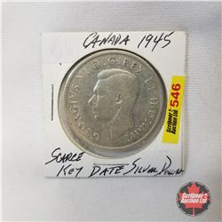Canada One Dollar 1945