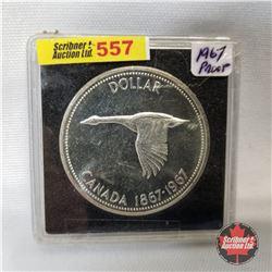 Canada One Dollar 1967 (in case)