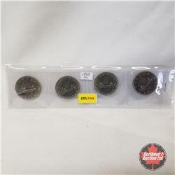 Canada One Dollar - Strip of 4: 1968