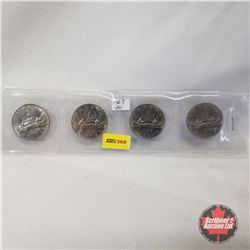 Canada One Dollar - Strip of 4: 1969