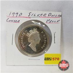 Canada Proof Dollar 1990