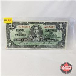 Canada $1 Bill 1937 (Coyne/Towers EN7038612)