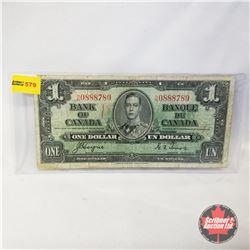 Canada $1 Bill 1937 (Coyne/Towers HN0888789)