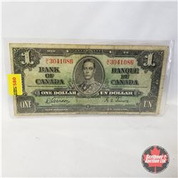 Canada $1 Bill 1937 (Gordon/Towers UL3041086)