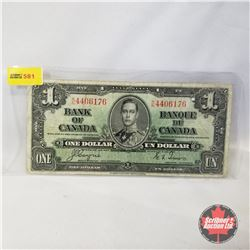 Canada $1 Bill 1937 (Coyne/Towers RN4406176)