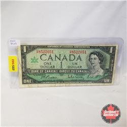 Canada $1 Bill 1967 (Beattie/Rasminsky HP8522051)
