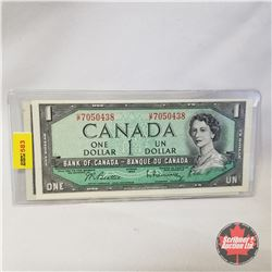 Canada $1 Bill 1954 Sequential (2) (Beattie/Rasminsky UP7050437/438)