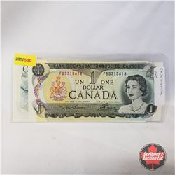 Canada $1 Bills 1973 Sequential (2) (Lawson/Bouey FB3313618/619)