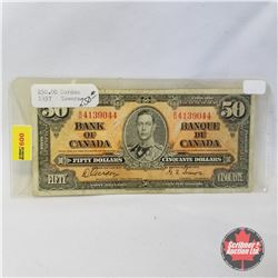 Canada $50 Bill 1937 (Gordon/Towers BH4139044)