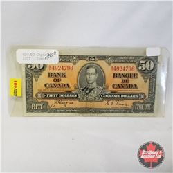 Canada $50 Bill 1937 (Coyne/Towers BH4924796)