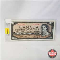 Canada $100 Bill 1954 (Beattie/Coyne AJ6753384)