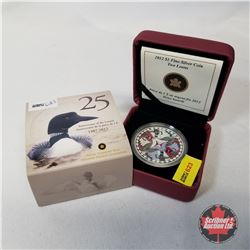 RCM 2012 $1 Fine Silver Coin Anniversary of the Loonie :  Two Loons COA#09342/10000