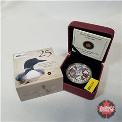 RCM 2012 $1 Fine Silver Coin Anniversary of the Loonie :  Two Loons COA#09347/10000