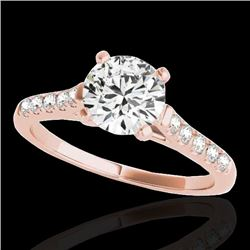 1.2 CTW H-SI/I Certified Diamond Solitaire Ring 10K Rose Gold - REF-145T3M - 34971