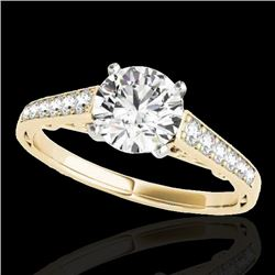 1.35 CTW H-SI/I Certified Diamond Solitaire Ring 10K Yellow Gold - REF-156X4T - 34909