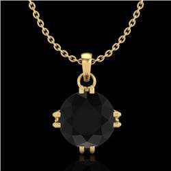 1 CTW Fancy Black Diamond Solitaire Art Deco Stud Necklace 18K Yellow Gold - REF-67Y3K - 37543