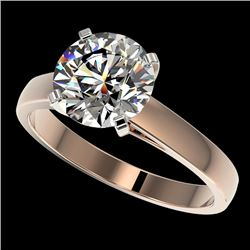 2.55 CTW Certified H-SI/I Quality Diamond Solitaire Engagement Ring 10K Rose Gold - REF-729X2T - 365