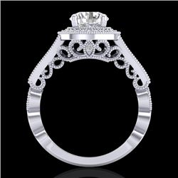 1.91 CTW VS/SI Diamond Art Deco Ring 18K White Gold - REF-543Y6K - 36974