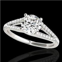 1.75 CTW H-SI/I Certified Diamond Solitaire Ring 10K White Gold - REF-337F5N - 35309