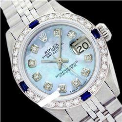 Rolex Ladies Stainless Steel, Diam Dial & Diam/Sapphire Bezel, Sapphire Crystal - REF-431T5K