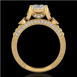1.75 CTW Princess VS/SI Diamond Art Deco Ring 18K Yellow Gold - REF-445W5F - 37150