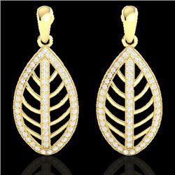 2 CTW Micro Pave VS/SI Diamond Designer Earrings 18K Yellow Gold - REF-170Y2K - 21475
