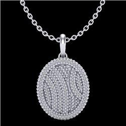 1 CTW Micro Pave VS/SI Diamond Necklace 14K White Gold - REF-90F9N - 20509