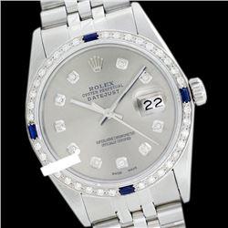 Rolex Ladies Stainless Steel, Diam Dial & Diam/Sapphire Bezel, Sapphire Crystal - REF-426T6K