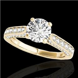 1.6 CTW H-SI/I Certified Diamond Solitaire Ring 10K Yellow Gold - REF-263K6W - 34918